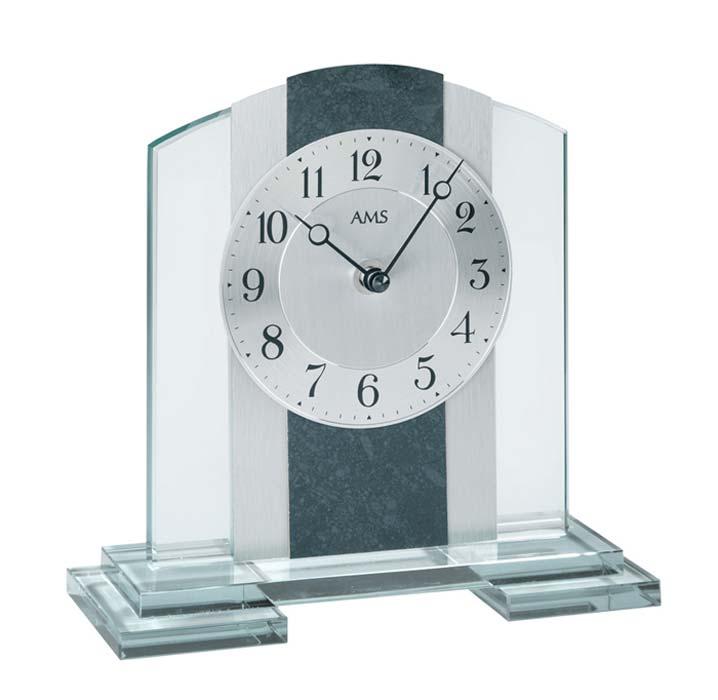 ams 1121 tischuhr modern tischuhr kaminuhr wohnzimmer ebay. Black Bedroom Furniture Sets. Home Design Ideas