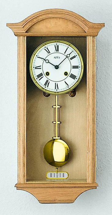 Ams 614 5 Wall Clock Oak Pendulum Clock Regulator