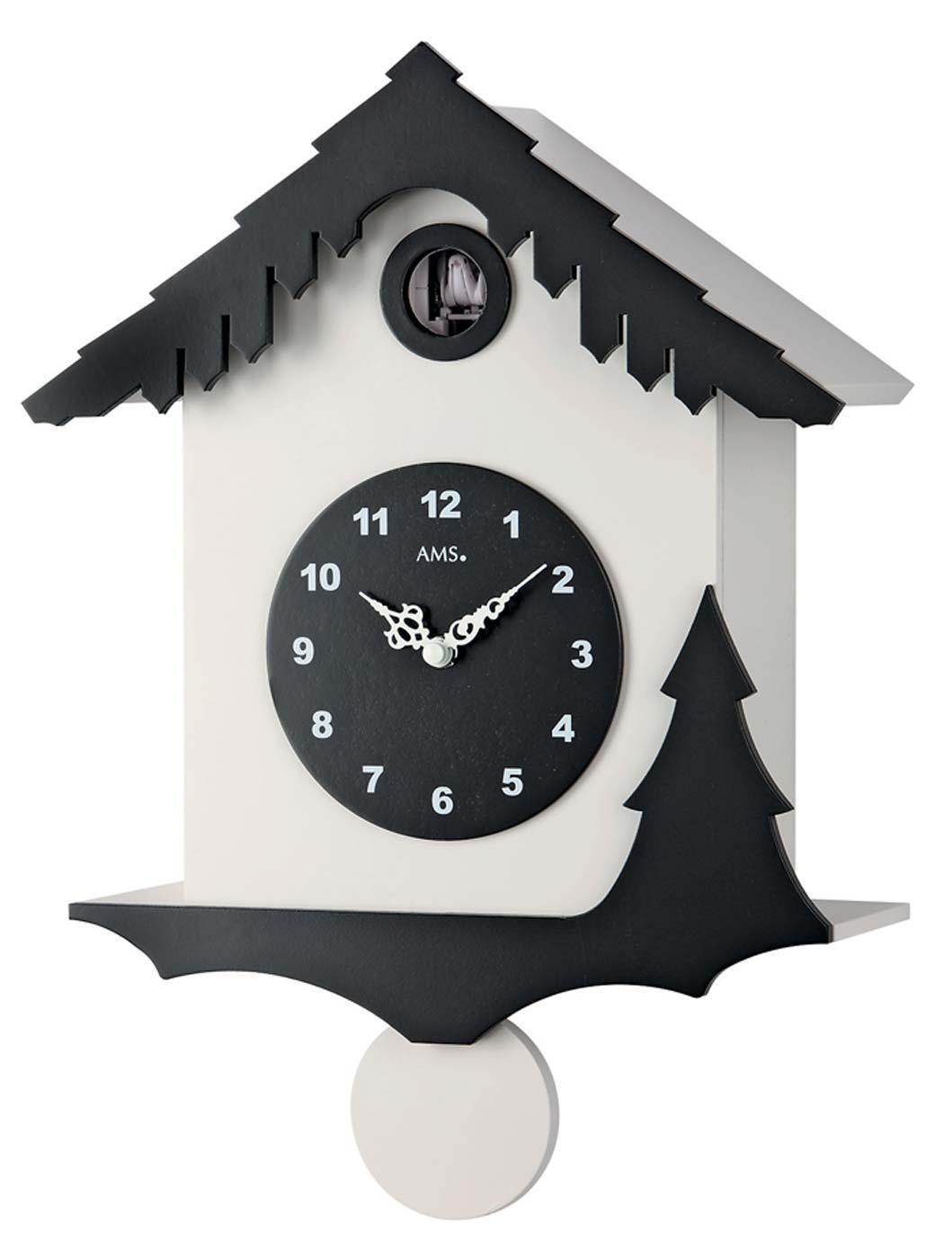 Ams 7391 wall clock cuckoo clock pendulum clock new ebay - Cuckoo pendulum wall clock ...