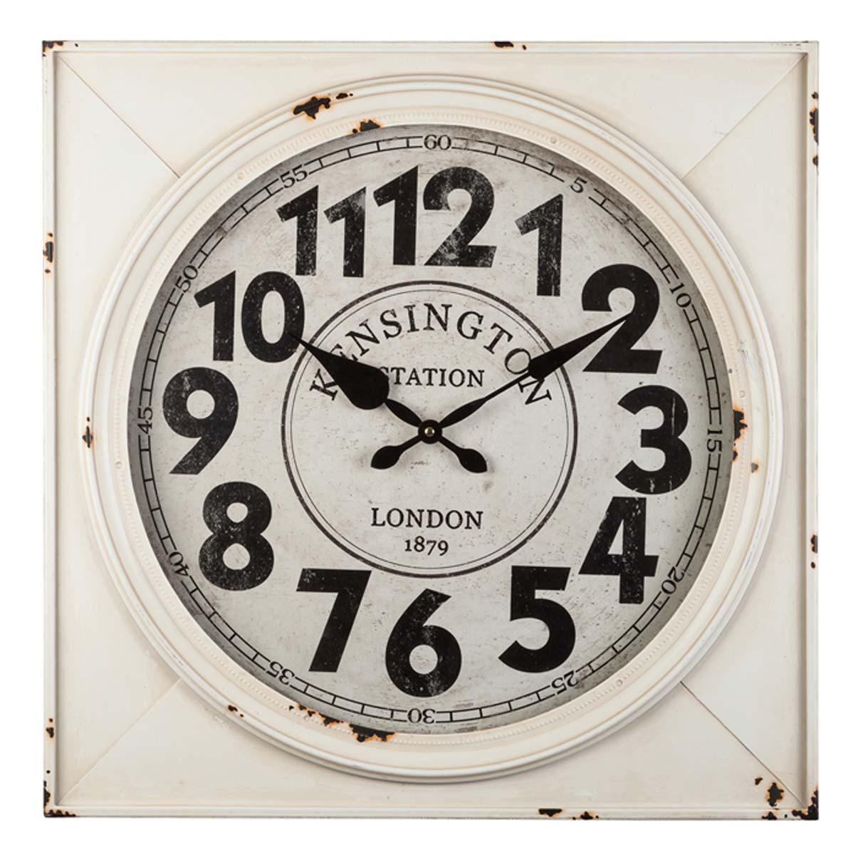 antique home 7301 horloge mural acier horloge de style ancien nouveau ebay. Black Bedroom Furniture Sets. Home Design Ideas