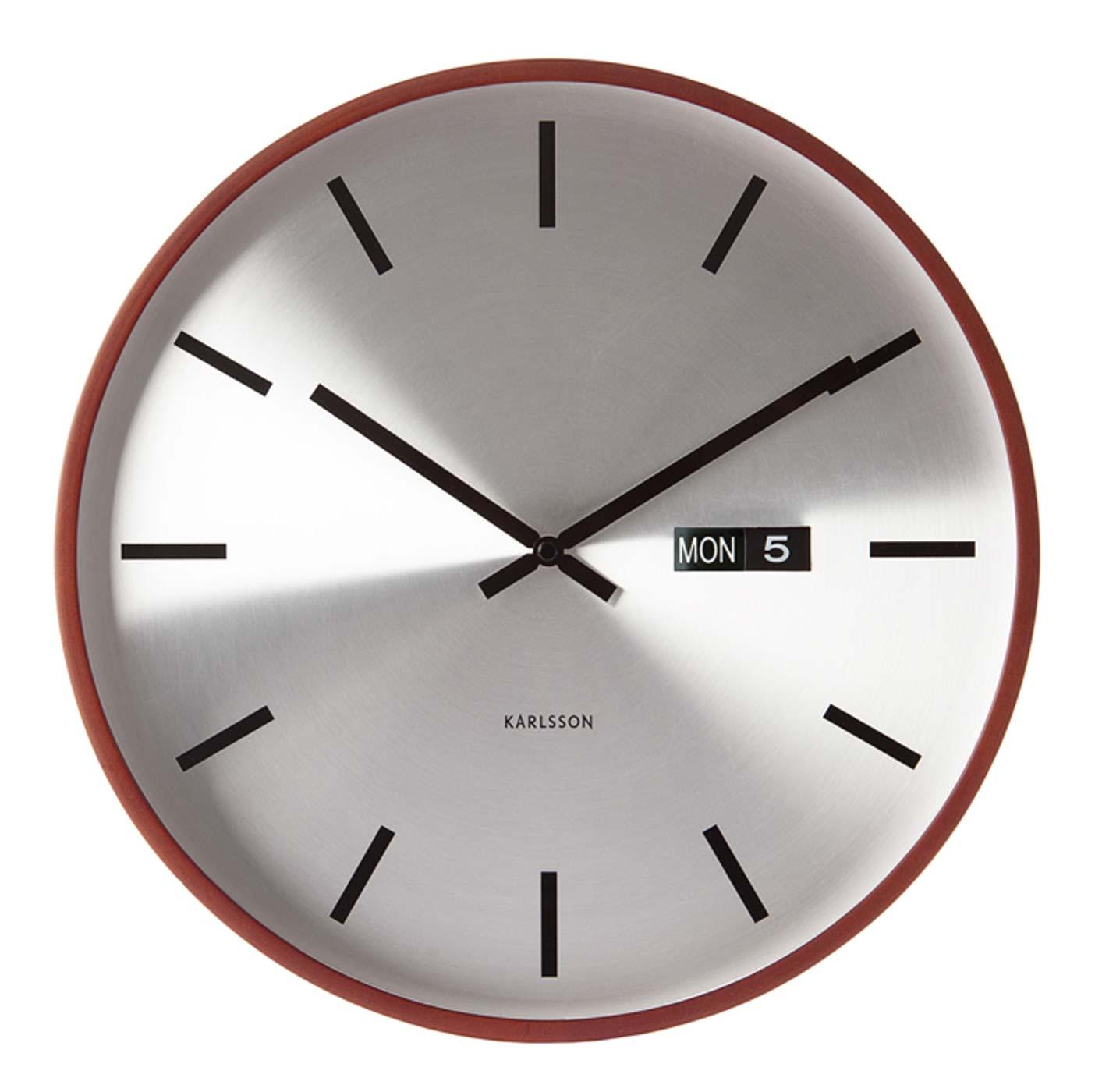 Cadran argent avec index barres dimensions - Horloge murale karlsson ...