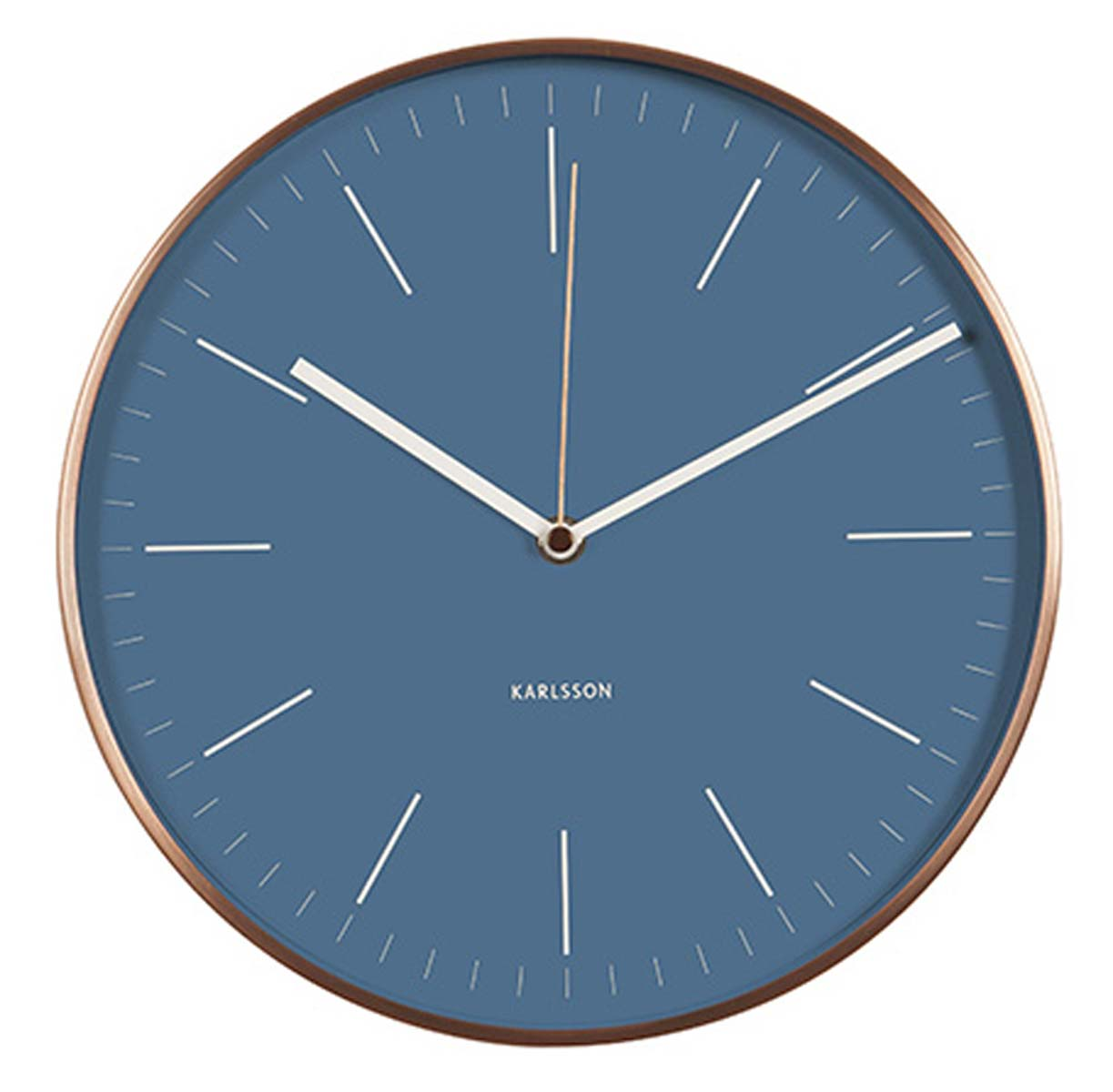 Karlsson ka5507bl horloge murale horloge de gare for Horloge murale de gare