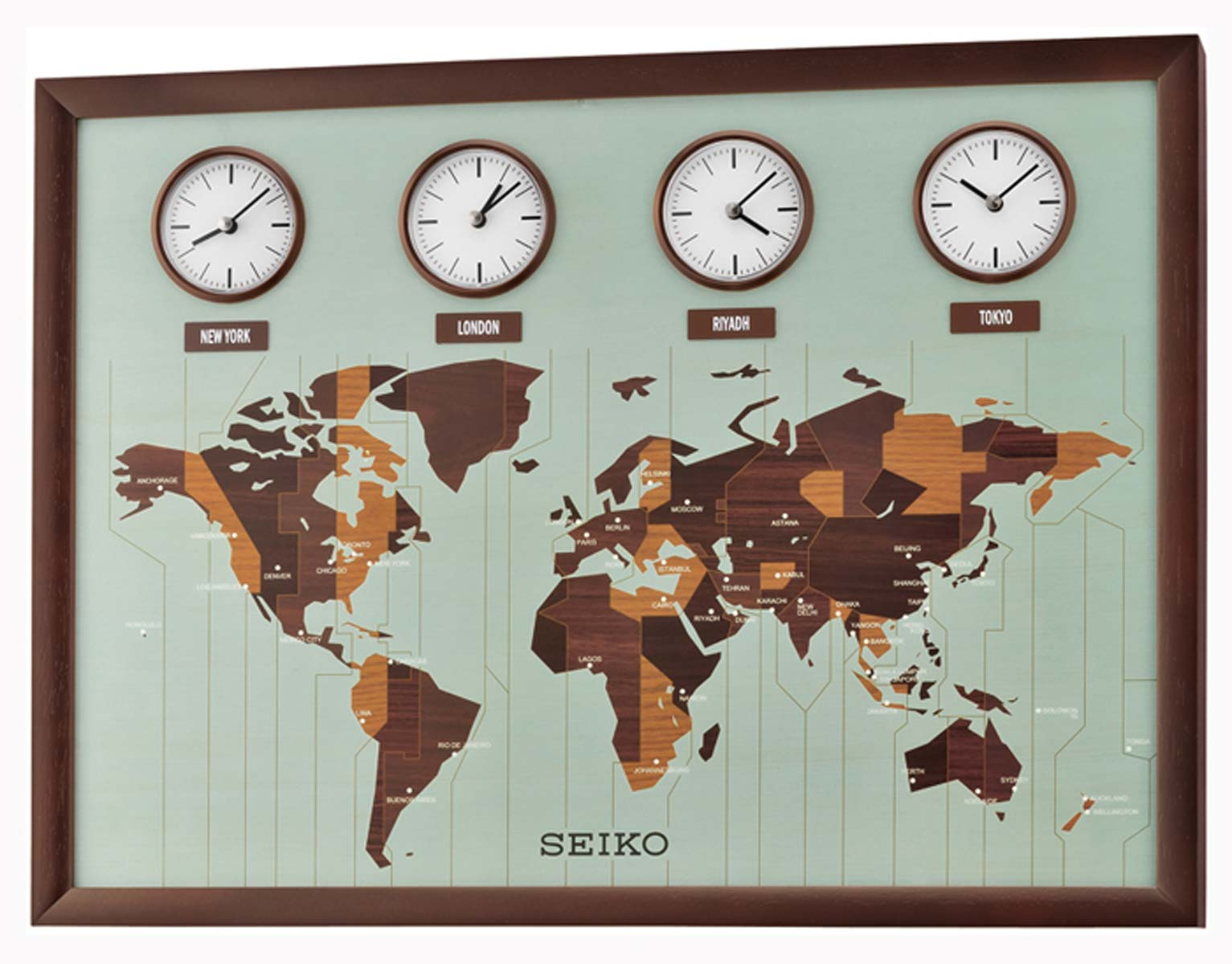 Seiko Qxa648b Wall Clock Xxl Clock Retro Clock