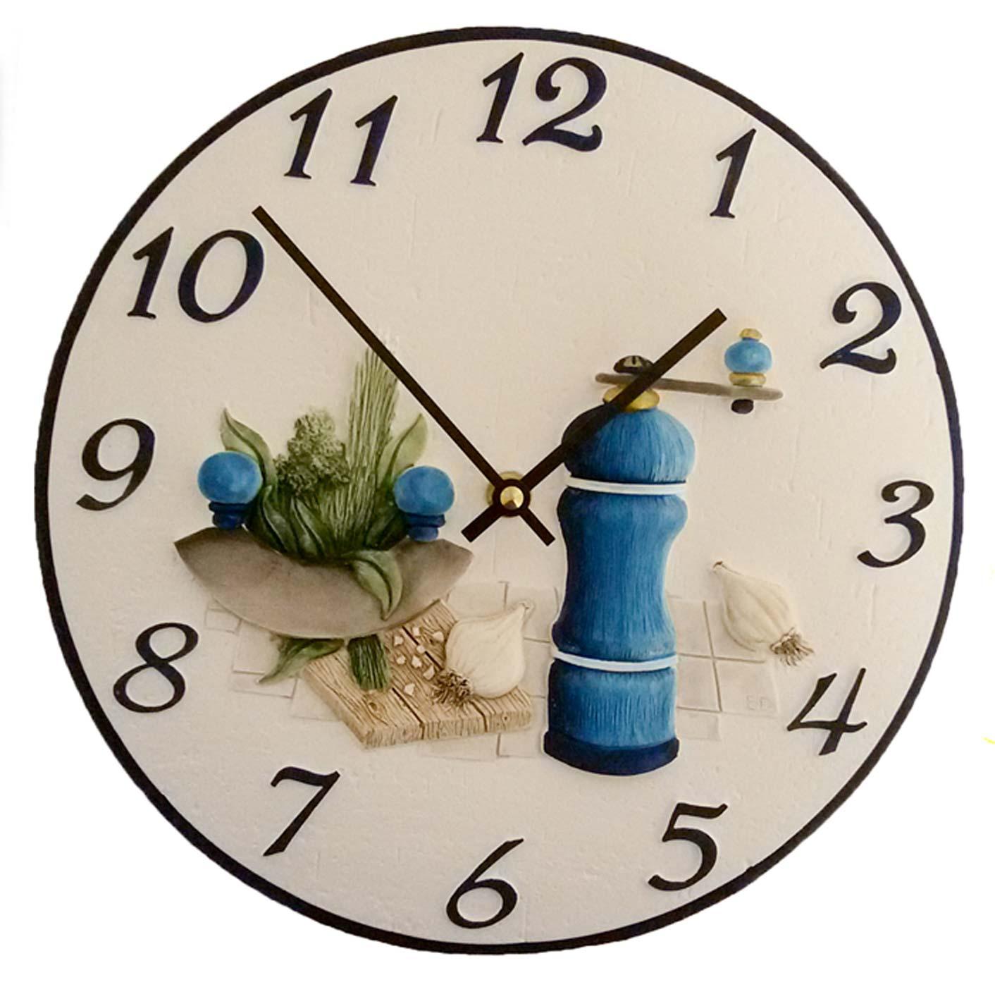 Terrastudio 00 2401 horloge murale horloge de cuisine - Ceramique murale autocollante ...