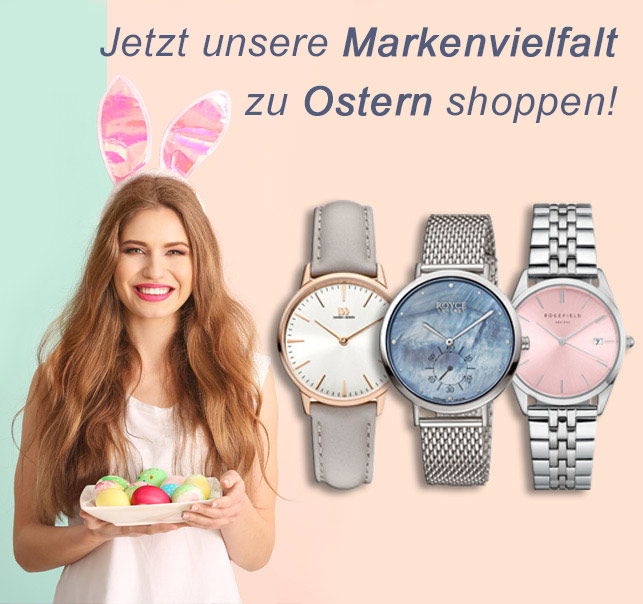 Armbanduhren zu Ostern am 21. April