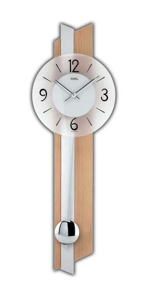 Wohnzimmer und Kamin wohnzimmer uhren modern : AMS 7294 - Wall Clock - Beech - Quiet Clock - New | eBay