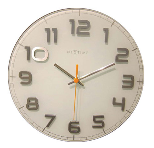 Nextime horloge mural 8817wisur - Horloge murale sans bruit ...