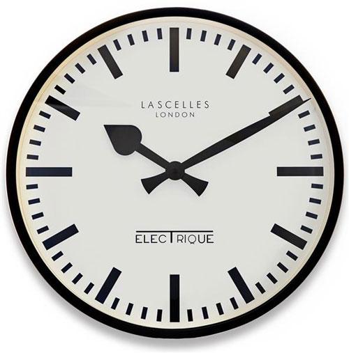 Roger Lascelles LM/ELEC/BLACK Wall Clock